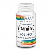 Solaray Vitamin C Two Stage Time Release 500mg Capsules 60