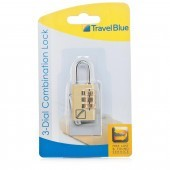 Travel Blue 3-Dial Combination Lock