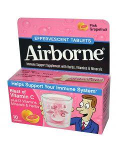 Airborne Effervescent Tablets Pink Grapefruit 10