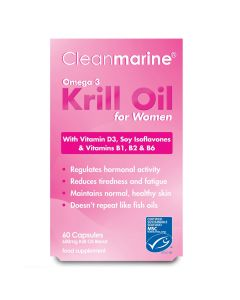 Cleanmarine Krill Oil for Women 600mg Marine Gelcaps 60