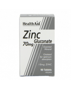 HealthAid Zinc Gluconate 70mg Tablets 90