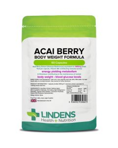 Lindens Acai Berry Body Weight Formula 1000mg Capsules 60