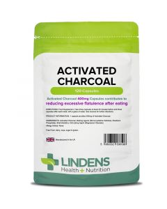 Lindens Activated Charcoal 400mg capsules 120