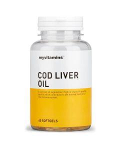 Myvitamins Cod Liver Oil Softgels 180