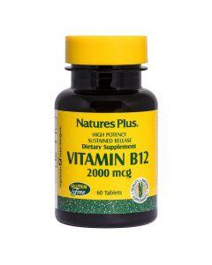 Nature's Plus Vitamin B12 2000ug Sustained Release Tabs 60