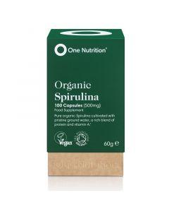 One Nutrition Organic Spirulina 500mg Vegicaps 100