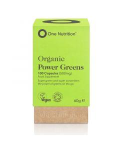 One Nutrition PowerGreens 500mg Vegicaps 100