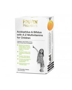 ProVen Probiotics Lactobacillius & Bifidus with A-Z Multivitamins Child Tabs 30