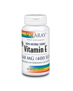 Solaray Vitamin E 268mg Softgels 60