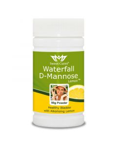 Sweet Cures Waterfall D-Mannose Powder Lemon 50g