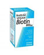 HealthAid Biotin 800ug Tablets 30