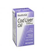 HealthAid Cod Liver Oil 550mg Capsules 250