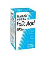 HealthAid Folic Acid 400ug tablets 90
