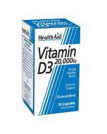 HealthAid Vitamin D3 20,000iu Capsules 30
