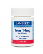 Lamberts Iron 14mg Tablets 100