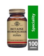 Solgar Betaine Hydrochloride With Pepsin 100 Tablets