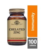 Solgar Chelated Zinc Tablets 100 Tablets