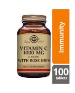 Solgar Vitamin C 1000mg with Rose Hips tablets 100