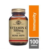 Solgar Vitamin C 500mg with Rose Hips tablets 100