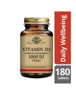 Solgar Vitamin D3 25ug (1000iu) Tablets 180