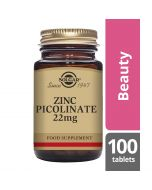 Solgar Zinc Picolinate 22mg Tablets 100