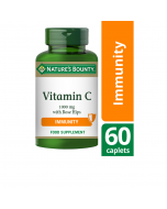 Nature's Bounty Vitamin C 1000mg with Rose Hips Caplets 60