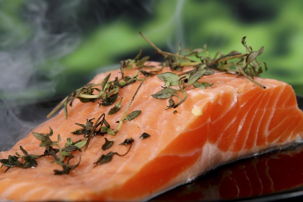 Blue fish like Salmon provide Vitamin B12