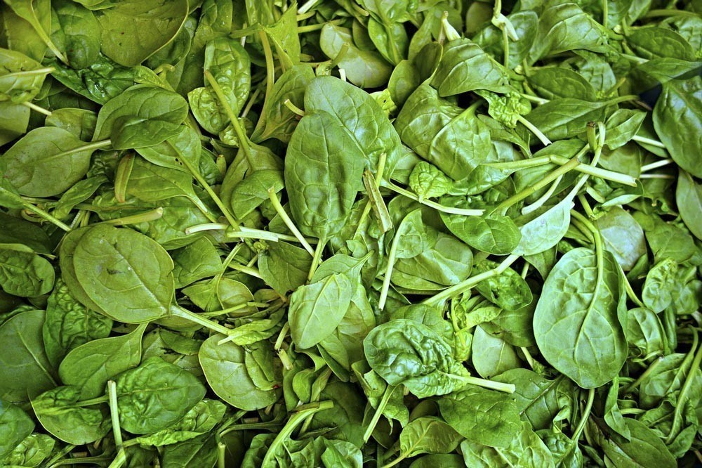 Iron can be found in Spinach