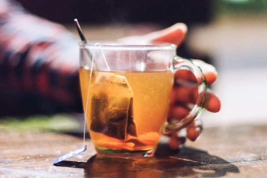 hot herbal tea