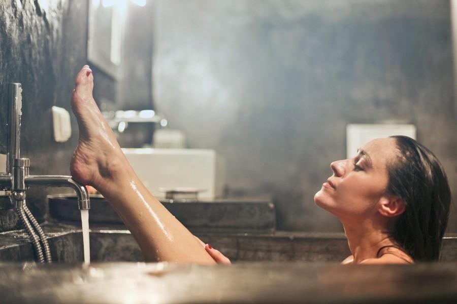 person in bath